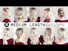 TEN Medium Length Hairstyles!!! | Twist Me Pretty - YouTube