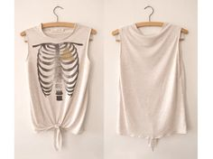 It's what's on the inside that counts. Hand Printed Vest Cream by littlelostsoul, £18.00