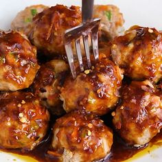 These Thai Meatballs are paleo, gluten-free, and bursting with flavor. They are a healthy meatball recipe that everybody will love. This thai meatball recipe is loaded with veggies and infused with th Thai Meatballs Recipe, Healthy Meatballs, Cooking Meatballs, Turkey Meatballs Gluten Free, Crockpot Turkey Meatballs, Recipes With Meatballs, Whole 30 Meatballs, Asian Turkey Meatballs, Chicken Meatballs