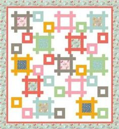 Framework Quilt FREE Pattern Download available at connectingthreads.com