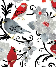 Look at this Elegant Cardinal Flat Wrap - Set of 6 on #zulily today!