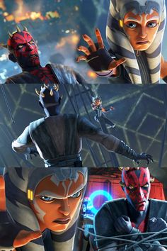 Ahsoka Tano stills from Season 7 Episode Ahsoka holding Maul in the air by the use of the Force. Maul is then captured. Star Wars Books, Star Wars Characters, Star Wars Clone Wars, Star Wars Art, Star Trek, Star Wars Droids, Lego Star Wars, Asoka Tano, Star Wars Pictures