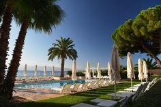 Blauer Himmel, ein Pool, Palmen und das Mittelmeer. Mehr braucht man fast nicht für den perfekten Urlaub. Hotel Les Mouettes auf Korsika http://www.lastminute.de/reisen/2878-29654-hotel-les-mouettes-collioure/?lmextid=a1618_180_e30