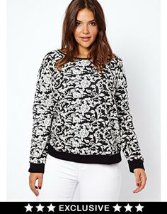 New Look Inspire Floral Jacquard Sweat