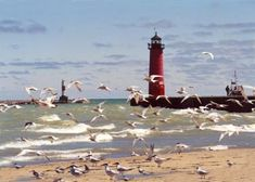 Kenosha Pierhead, WI. Located at the end of the northern pier marking the entrance to the harbor in Kenosha.