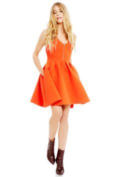 Butterfly orange is always in! Love this Rebecca Minkoff Royce Dress