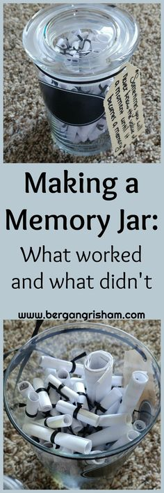 Making a Memory Jar-Gift Ideas-Unique Gift-Anniversary Gift-Birthday Gift-Mother's Day-Father's Day. Birthday Presents For Her, 90th Birthday Parties, Mother Birthday Gifts, Husband Birthday, Boyfriend Birthday, Birthday Ideas, Jar Gifts, Gifts For Kids, Anniversary Gifts
