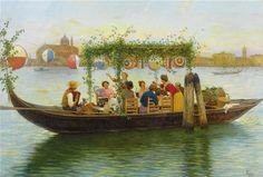 """Luigi Pastega - """"La Festa del Redentore"""" 1904"""