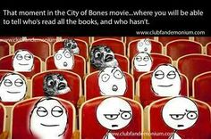 "THIS IS SO TRUE!!! I saw the movie just the other day and all of the ""plot twists"" were kinda spoiled for me since I read the books first. But the people sitting behind were so confused and shocked, and I could tell that almost no one in the theatre had read the books before seeing the movie."