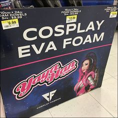 Need a retail mascot or party costume? Consider this DIY Yaya-Han Cosplay Theatrical Foam Endcap for materials for creation. Foamcore, Cosplay Store, Mat Exercises, Joanns Fabric And Crafts, Craft Stores, Close Up, Retail, Entertaining, Diy