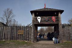 The main gate to the Jomborg Fortress, Warsaw, Poland.  #vikings #slavic
