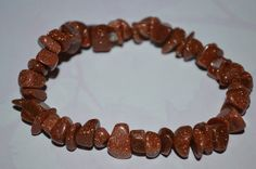 Red Goldstone Bracelet by laiziboicollection on Etsy, $8.00