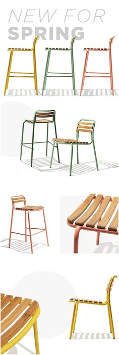 Simultaneously lightweight and sturdy the Spence Chair is thoughtfully built with a sleigh base to heighten the chair's stability. Constructed with a steel frame and teak slats the Spence Chair has an appreciably wider girth where the backrest joins the seat.