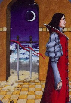 Two of Swords - Anna.K Tarot by Anna Klaffinger