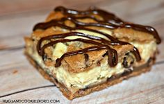 Hugs & CookiesXOXO: CHOCOLATE CHIP COOKIE BARS STUFFED WITH CHEESECAKE