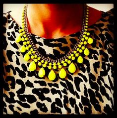 Neon Jungle! #neon #statementnecklace #jewelry #jewellery #tychelondon