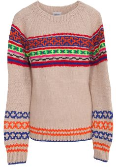 Colorful Sweaters: Wunderschöner Strickpullover in Beige mit Muster in Multicolor von Bellerose.
