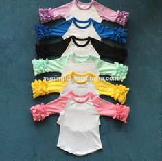 Check out this product on Alibaba.com App:DYJ-512 Persnickety Remark girls ruffle raglan infant toldders clothing wholesale icing ruffle shirts kids boutique https://m.alibaba.com/7BRZ32