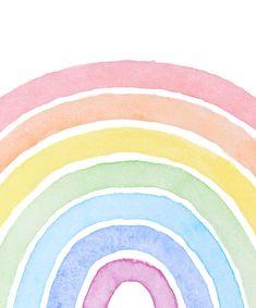 Rainbow Wallpaper, Iphone Background Wallpaper, Nursery Prints, Nursery Wall Art, Nursery Decor, Room Decor, Rainbow Nursery, Rainbow Painting, Rainbow Aesthetic