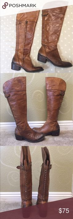 Vince Camuto riding boots Knee high genuine leather studded riding boots. Lightly  worn. Vince Camuto Shoes Over the Knee Boots