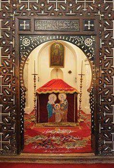 الكنيسه الاثريه بدير المحرق Religious Art, Cairo, Jesus Christ, Christianity, Saints, Mirror, Lord, Painting, Home Decor