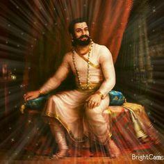 """""""Chatrapati Shivaji Maharaj"""" Shivaji Maharaj Painting, King Of India, Indian Freedom Fighters, Full Hd Wallpaper Download, Shivaji Maharaj Hd Wallpaper, Shiva Photos, Warriors Wallpaper, Dragon King, Great Warriors"""