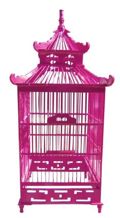 colorful birdcages make for great decor.