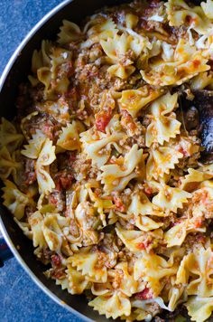 Pasta with Cheese and Meat Sauce is definitely a crowd pleaser. Get ready for making it again soon as everyone will beg for the second time. | giverecipe.com | #pasta #comforting