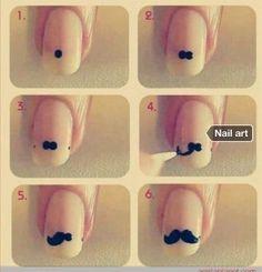 Uñas bigote.