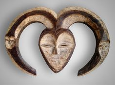 Classic Kwele mask from Gabon