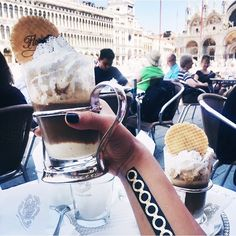 I'll take some gelato in my coffee #twoscoops #italy #needcycle #flashtat
