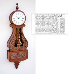 04-FS-145+-+Lyre+Wall+Clock+Woodworking+Plan.