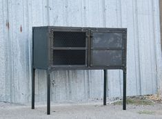 Vintage Industrial Steel Buffet Media Console Liquor Cabinet Modern Rustic Mid Century Credenza Furniture Customizable Handmade New Hutch