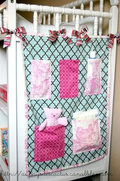 This idea would work for an end of bed organizer as well.