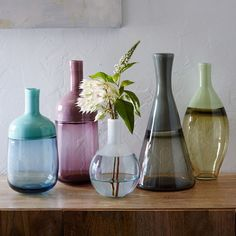 Great gift idea for Mom: We worked with Oregon-based glass company Vitreluxe to design these intricate, blown-glass vases. Skilled artisans use incalmo, a technique that fuses two glass pieces together to create each vase. The vases are made with pot glass, resulting in a rich range of shades that blend opaque and transparent tones.