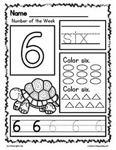 Pre-Kindergarten Math Numbers Number of the Week Zoo Theme Mathe-Vorschulkindergartennummern Nummer der Woche Zoo-Thema Teaching Numbers, Numbers Kindergarten, Numbers Preschool, Kindergarten Lesson Plans, Kindergarten Lessons, Math Numbers, Preschool Math, Preschool Learning Activities, Kindergarten Worksheets