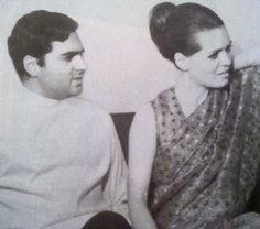 Rare photo of Sonia and Rajeev Gandhi | Apnaahangout