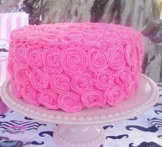 Rose cake | CatchMyParty.com #rose #cake