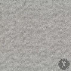 Woolies Flannel Fabric Herringbone - Ash