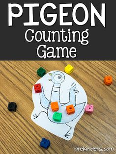 Mo Willems Pigeon Counting GameYou can find Counting games and more on our website. Preschool Math Games, Counting Activities, Preschool Lessons, Kindergarten Activities, Book Activities, Sequencing Activities, Preschool Learning, Teaching, Preschool Ideas