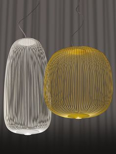 Spokes is a new pendant lamp designed by Garcia Cumini Associati that Foscarini presented during Milan Design Week 2014. The design of the lamp was inspired by antique lanterns and aviaries;however it was named after the designers observed the spokes of a bicycle wheel. The body of the lamp is composed of bent metal rods that hide both the LED bulb and the power cable.