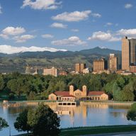 """Denver, Colorado; from City Park, two blocks from the home where I grew up. We """"lived"""" in the park."""
