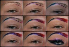 Colored Brow Tutorial with Product List with #BoredomWithJen >> Visit site for details  #bbloggers #makeup #summer #bright #wowbrows #eyebrows #brows #colorful #howto #tutorial #makeupisart #editorial