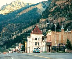 Ouray Colorado, drove the million dollar highway between Silverton and Ouray, scary but beautiful!