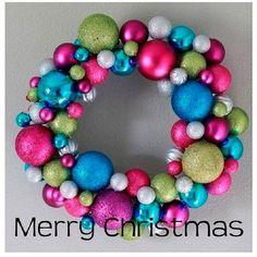 tutorial corona de navidad con bolas para decorar el árbol