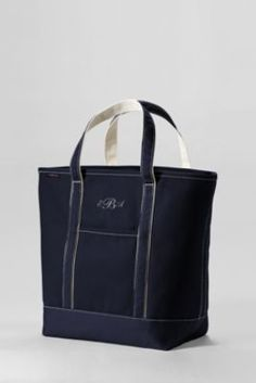 Large Colored Open Top Tote Bag from Lands' End. Monogrammed with Classic Name Font...The Ruckers