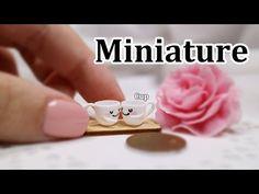 미니어쳐 카푸치노 만들기 (천사점토) Miniature * Cappuccino (angel clay) - YouTube