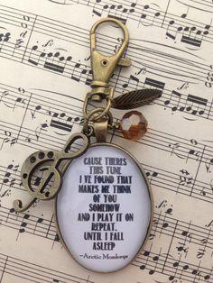 Arctic Monkeys Lyric Keyring/Bag Charm by CherryCocoDesigns