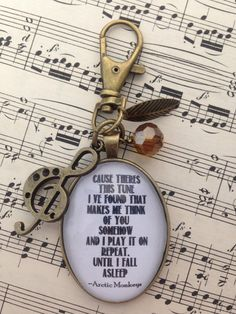 Arctic Monkeys Lyric Keyring/Bag Charm by CherryCocoDesigns