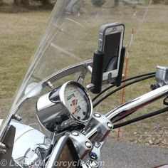 SLIDE phone mount is available in two sizes (this is the medium) and can mount phones vertical or horizontal. Side arms 'slide' to adjust to phone width, AND are avail in different depths to fit cases/covers. Ultra-Swivel feature allows you to fine-tune to desired angle. Urban Windshield bracket is as simple as it gets. All parts stainless steel - won't rust or wear. Made in America! https://www.leadermotorcycle.com/collections/slide-phone-mounts